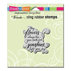 Stampendous Cling Mounted Rubber Stamps - May Flowers