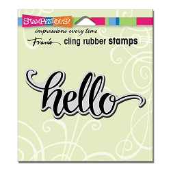 Stampendous Cling Mounted Rubber Stamps - Big Brush Hello