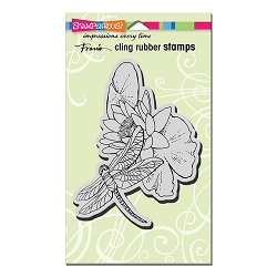 Stampendous Cling Mounted Rubber Stamps - Dragonfly Lily