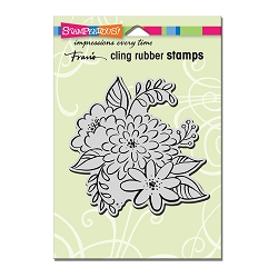 Stampendous Cling Mounted Rubber Stamps - Mum Blossoms