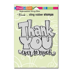 Stampendous Cling Mounted Rubber Stamps - Great Big Thanks