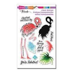 Stampendous Perfectly Clear Stamp - Flamingo Messages Perfectly Clear Stamps
