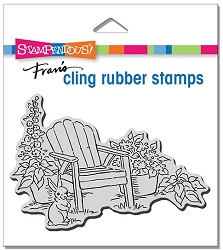 Stampendous - Cling Bunny Chair Rubber Stamp