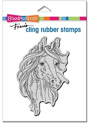 Stampendous - Cling Horse Portrait Rubber Stamp