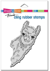 Stampendous - Cling Llama Look Rubber Stamp