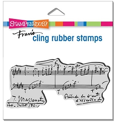 Stampendous - Cling Music Notation Rubber Stamp