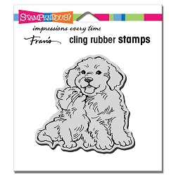 Stampendous - Cling Kitty Kiss Rubber Stamp