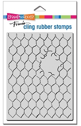 Stampendous - Cling Chicken Wire Rubber Stamp