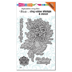 Stampendous - Garden Mum Cling Rubber Stamp Set