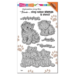 Stampendous - Kitten Hugs Cling Rubber Stamp Set