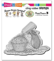 Stampendous - Cling House Mouse Cupcake Sprinkles Rubber Stamp