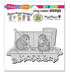 Stampendous - Cling House Mouse Watercolor Wish Rubber Stamp