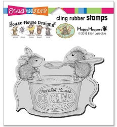 Stampendous - Cling House Mouse Mousse Mice Rubber Stamp