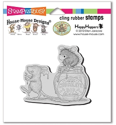 Stampendous - Cling House Mouse Chocolate Dip Rubber Stamp