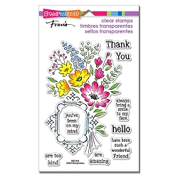 Stampendous - Floral Frame Perfectly Clear Stamps