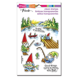 Stampendous - Gnome Fishing Perfectly Clear Stamps