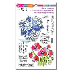 Stampendous - Blue Poppies Perfectly Clear Stamps