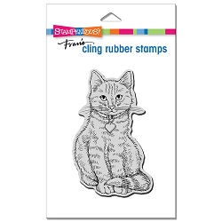 Stampendous - Sitting Kitty Cling Rubber Stamp