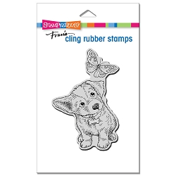 Stampendous - Curious Puppy Cling Rubber Stamp