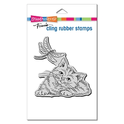 Stampendous - Dragonfly Kitten Cling Rubber Stamp