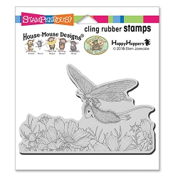 Stampendous - House Mouse Butterfly Soaring Cling Rubber Stamp