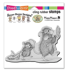 Stampendous - House Mouse Bedtime Babies Cling Rubber Stamp