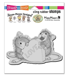 Stampendous - House Mouse Love Treat Cling Rubber Stamp
