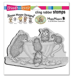 Stampendous - House Mouse Marshmallow Munching Cling Rubber Stamp