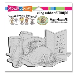 Stampendous - House Mouse Get Well Soon Cling Rubber Stamp
