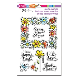 Stampendous - Flower Frame Perfectly Clear Stamps
