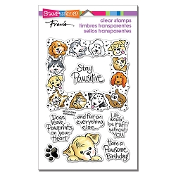 Stampendous - Puppy Frame Perfectly Clear Stamps