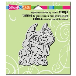 Stampendous - Cling Mounted Rubber Stamp - Witchy Friends