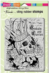 Stampendous - Cling Mounted Rubber Stamp - Crowned Skull