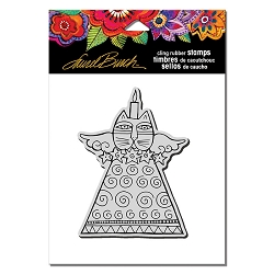 Stampendous - Laurel Burch - Cling Feline Candle Rubber Stamp