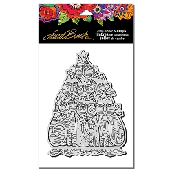 Stampendous - Laurel Burch - Cling Festive Felines Rubber Stamp