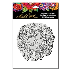Stampendous - Laurel Burch - Cling Wreath Mare Rubber Stamp