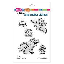Stampendous - Cling Mounted Rubber Stamp Set - Batty Cat