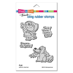 Stampendous - Cling Mounted Rubber Stamp Set - Little Red