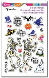Stampendous Perfectly Clear Stamp - Skeleton Humor