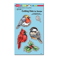 Stampendous - Cutting Die - Winter Tweets Die Cut Set