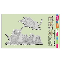 Stampendous Cling Mounted Rubber Stamps - House Mouse Designs - Leaf Kite