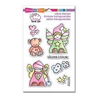 Stampendous Perfectly Clear Stamp - Pink Your Life Little Angels