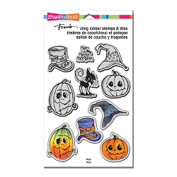Stampendous - Halloween Hats Cling Stamps and Dies Set