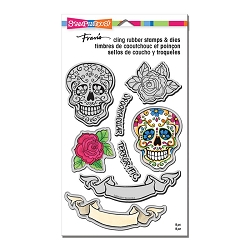 Stampendous - Sugar Skull Cling Stamps and Dies Set