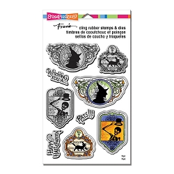 Stampendous - Halloween Labels Cling Stamps and Dies Set