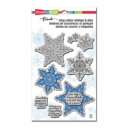 Stampendous - Winter White Cling Stamps and Dies Set