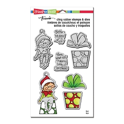 Stampendous - Seated Elf Cling Stamps and Dies Set