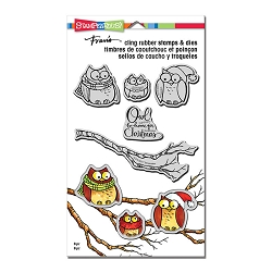 Stampendous - Owl Be Home Cling Stamps and Dies Set