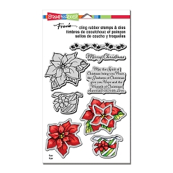 Stampendous - Wrapped Poinsettia Cling Stamps and Dies Set