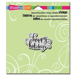 Stampendous - Cling Mounted Rubber Stamp - Holiday Scrolls